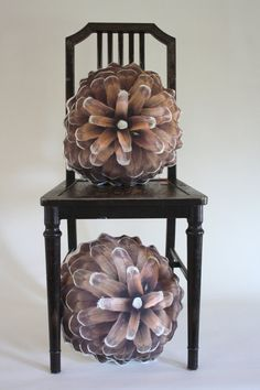 Pine cone pillow made to order by Plantillo on Etsy