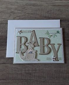 Stampin up - Card double card happy birthday card. Stampin up - Baby Boy Cards, New Baby Cards, Baby Shower Cards, Scrapbooking, Scrapbook Cards, Baby Shower Fall, Wedding Frames, Happy Birthday Cards, Baby Zoo Animals