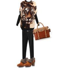 fashion animal print pullover