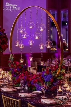 2019 brides favorite weeding color stylish shade of purple-luxury romantic purple wedding centerpieces, spring wedding decorations, diy floral wedding table settings, wedding flowers, vintage weddings - My WordPress Website Purple Wedding Centerpieces, Diy Centerpieces, Centerpiece Flowers, Picture Centerpieces, Table Flowers, Chandelier Centerpiece, Quinceanera Centerpieces, Hanging Flowers, Flower Arrangement