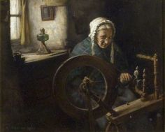 Henry John Dobson - Old Lady Spinning