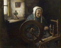 Henry John Dobson - Old Lady Spinning