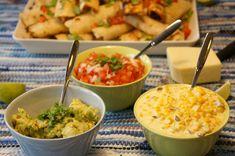 Puistolan bistro: Kanatäytteiset tortillarullat Guacamole, Mexican, Ethnic Recipes, Food, Eten, Meals, Diet