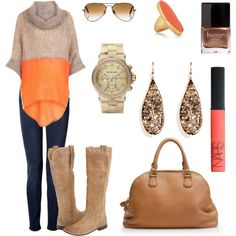perfect fall outfit and colors!!!!!!!