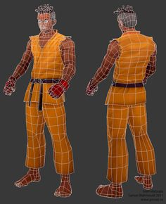 Tutorial: Character with Haind-painted textures - Polycount Forum 3d Model Character, Character Modeling, Game Character, Wireframe, Zbrush, Game Museum, Polygon Modeling, 3d Mesh, 3ds Max Models