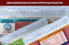 [File Pendidikan] Aplikasi Administrasi Kelas Terbaru dan Penilaian KTSP SD Menggunakan Microsoft Excel