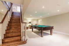 Humber Valley Family Home Games Room Family Home Games, Home And Family, Valley Village, Game Room, Storage Spaces, Stairs, Bedroom, Home Decor