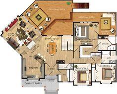 Cedar Glen I Floor Plan Add garage to kitchen side/tweak kitchen