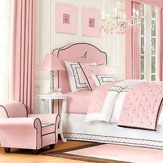 pink bedroom. classic lines.