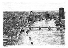 Stephen Wiltshire draw this view of London just my last birthday...