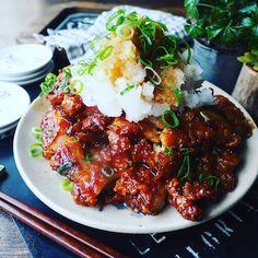 Home Recipes, Asian Recipes, Cooking Recipes, Healthy Recipes, Ethnic Recipes, Japanese Food, Tandoori Chicken, Food And Drink, Menu
