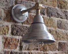 Antique metal swivel vintage industrial lighting wall sconce lamp  - 21 cm / 8 inch