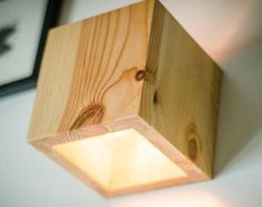 edison lamp X1 handmade. light oak. wooden lamp. wood lamp.