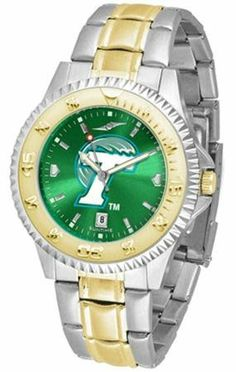 Tulane University Green Wave TU NCAA Mens Two-Tone Anochrome Watch by SunTime. $93.95. AnoChrome Dial Enhances Team Logo And Overall Look. Men. Links Make Watch Adjustable. Officially Licensed Tulane Green Wave Men's Stainless Steel and Gold Tone Watch. Two-Tone Stainless Steel. The perfect balance between sport and prestige. The Competitor AnoChrome with a Two-Tone Band is accented with a gold-plated rotating bezel timer central band links and crown piece. Th...