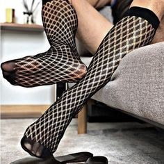 Fishnet Socks, Sheer Socks, Daily Deals, Stockings, Mens Fashion, Type, Medium, Diamond, Socks