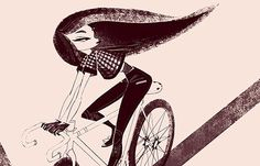Juxtapoz Magazine - Priscilla Wong's Girls on Bikes
