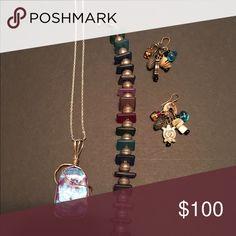 Handmade jewelry Handmade glass necklace sea glass bracelet colorful earrings Jewelry Necklaces