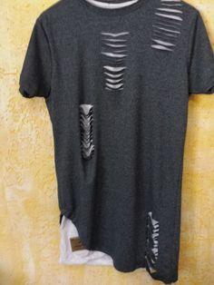 Resultado de imagem para blusa rasgadinha masculina