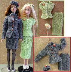 crocheted suit  great patterns on this site