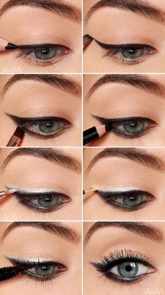 4 Easy Makeup Tutorials for Beginners #eyemakeupforbeginners