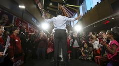 Liberal Leader Justin Trudeau gestures during a campaign rally in Ottawa on  Sept. 21 - Liberals looking for gains in Ottawa, NDP in northern Ontario Conservatives are still strong in central Ontario, but under pressure in the east and north