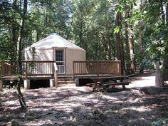 The big yurts at Mount Madonna County Park near Gilroy sleep 10 people for $90 per night. Photo: Courtesy Santa Clara County Prks / SF