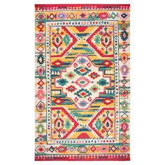 Dress up your space in inviting color with the Boho Tribal Tufted Rug from Rizzy Home. With the colorful geometric tribal print, this area rug is the perfect piece to add in your living room for a soft spot to cuddle up during movie night or put it in your entryway to greet all your guests in bold color.