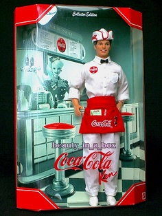 Coca-Cola Highly Collectable Soda Jerk Ken Doll 1999 (2nd In 1950's Series)...Valued at Over $300.