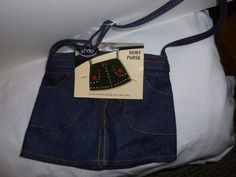 Blue Denim Skirt PurseTO DECORATE by TrueColorsBoutique on Etsy