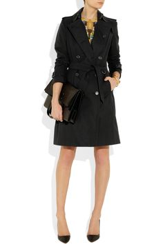 Classic & Essential Burberry London|Cotton-twill trench coat|NET-A-PORTER.COM