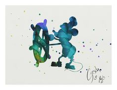 Mickey Mouse archival fine art print Watercolor by TentakittyInk