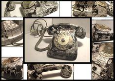 Comic Phone Decoupage - Martin Mystère, Italian Comic Book. -  Artist: Arthea (Elena Frasca Odorizzi)