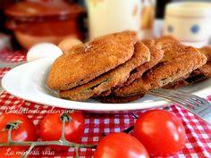 Buonissime cotolette di melanzane, da friggere o cuocere in forno. Una panatura dorata e perfetta che non si rompe nemmeno in forno!