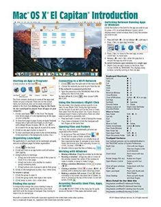Mac OS X El Capitan Introduction Quick Reference Guide (Cheat Sheet of Instructions, Tips & Shortcut