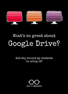 Google Drive is much more than an online file cabinet. It's loaded with free tools students can use for serious academic work. Let's look at what it can do. | Cult of Pedagogy