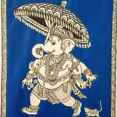 Ganesha Painting, Ganesha Art, Shri Ganesh, Lord Ganesha, Kalamkari Painting, Madhubani Painting, New Rangoli Designs, Art Diary, Goddess Art