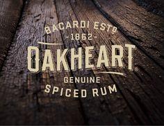 Oakheart Spiced Rum logo design