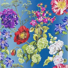 Alexandria Wallpaper from Designers Guild is a gorgeous illustrated botanical, printed on beautiful non-woven paper for easy washing and hanging. A variety of backgrounds including some softly shading