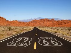 """Exploring Historic Route 66. There's a good reason Route 66 is known as """"The Mother Road""""; it's the quintessential cross-country road trip experience. The 2,500 mile route stretched from Chicago through the beating heart of America and down to Los Angeles, officially ending at the Santa Monica Pier."""