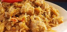 toros káposzta Fried Rice, Grains, Food And Drink, Chicken, Cooking, Ethnic Recipes, Chinese, Red Peppers, Kitchen
