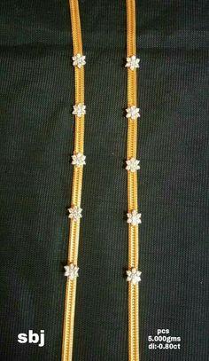 Gold Mangalsutra Designs, Gold Earrings Designs, Gold Chain Design, Gold Jewellery Design, Gold Jewelry Simple, Siri, Mint