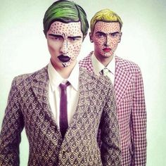 Pop art male makeup
