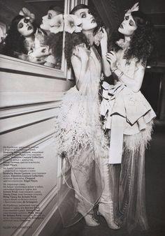 Ellen von Unwerth #photography | Vogue Russia April 2011 | via tumblr.   Gothic ballet me likey!!!