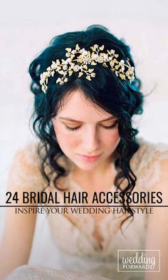 24 Bridal Hair Accessories To Inspire Your Hairstyle ❤ Hair accessories let you look chic from head to toe in an instant. See more: http://www.weddingforward.com/bridal-hair-accessories-to-inspire-hairstyle/ #wedding #accessories