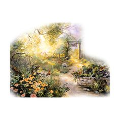 back gate.png ❤ liked on Polyvore featuring backgrounds, fillers, garden and greenery
