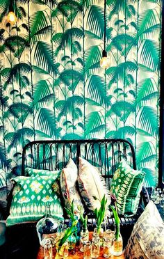 Estampados tropicales: palmeras verdes