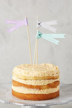 Cake Topper Flags #anthropologie