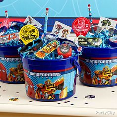 Transformer Party Ideas | Transformers Party Ideas: Favors