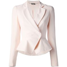 ALEXANDER MCQUEEN wrap blazer found on Polyvore
