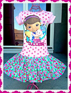 Girls Doc McStuffins twirl party Dress layers of ruffle size 4/5 6/6X and 7/8 ready to ship today